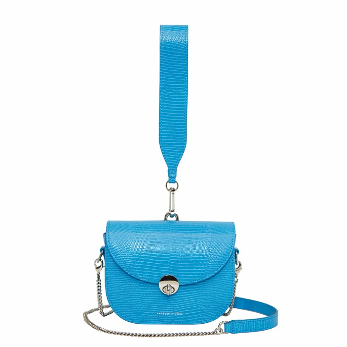MINI SADDLE BAG, Lizard Blue