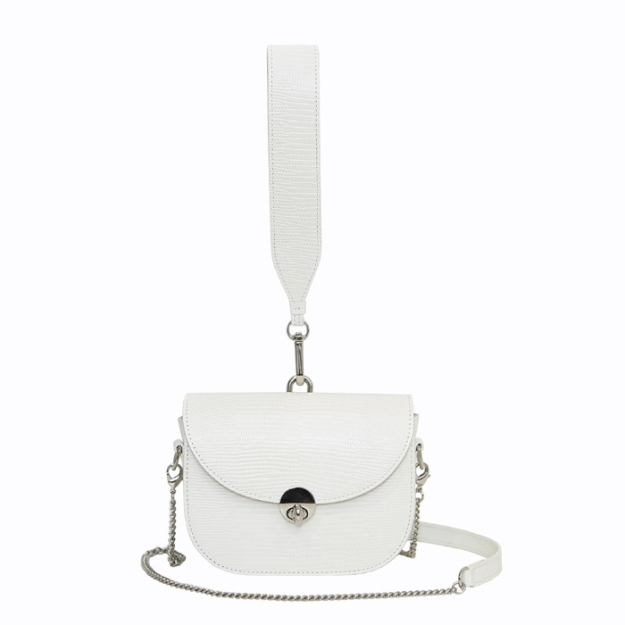 MINI SADDLE BAG, Lizard White