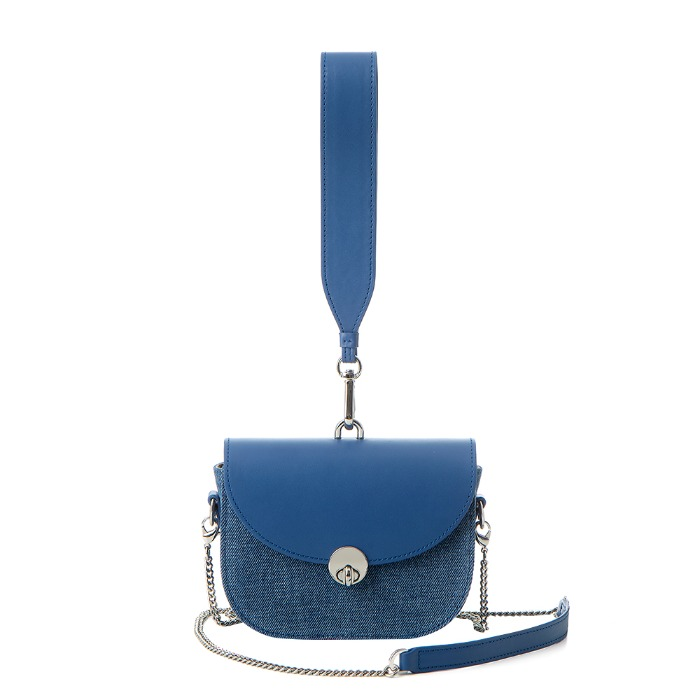 MINI SADDLE BAG, Denim Blue