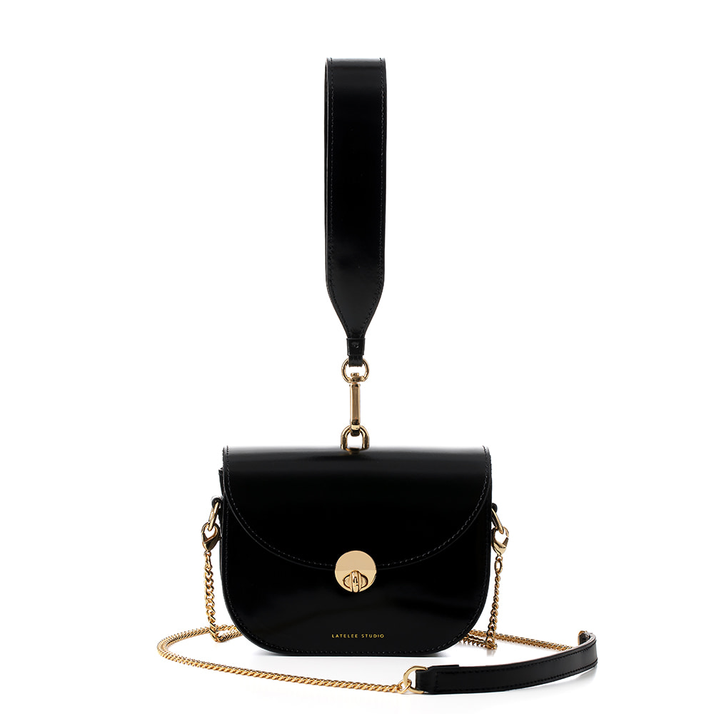 MINI SADDLE BAG, Glossy Black