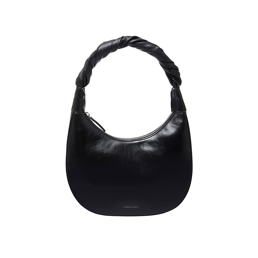 PRETZEL BAG, Creased Black