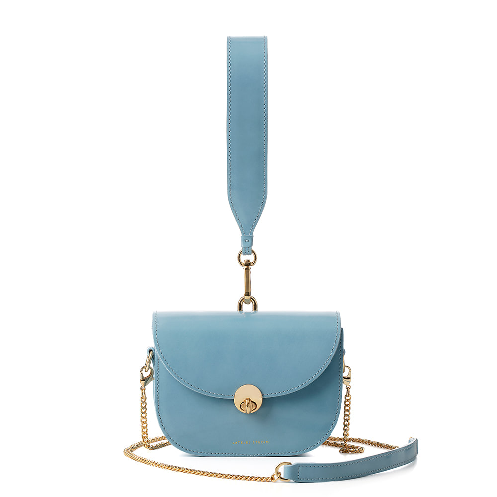 MINI SADDLE BAG, Glossy Blue