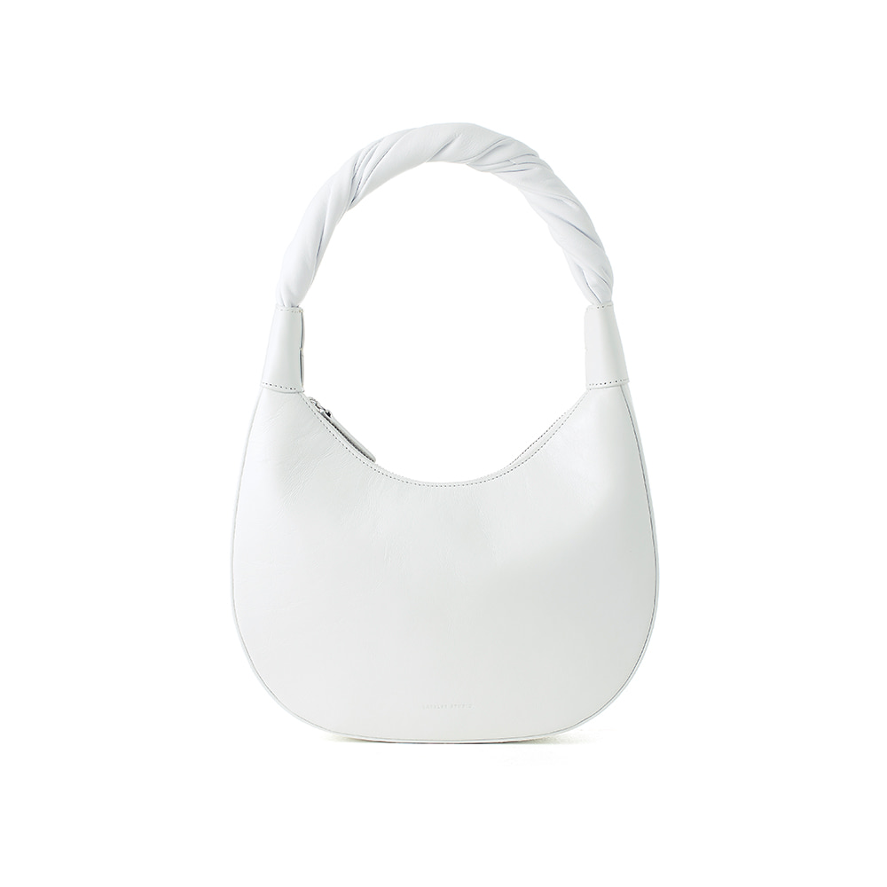 PRETZEL BAG, Creased White