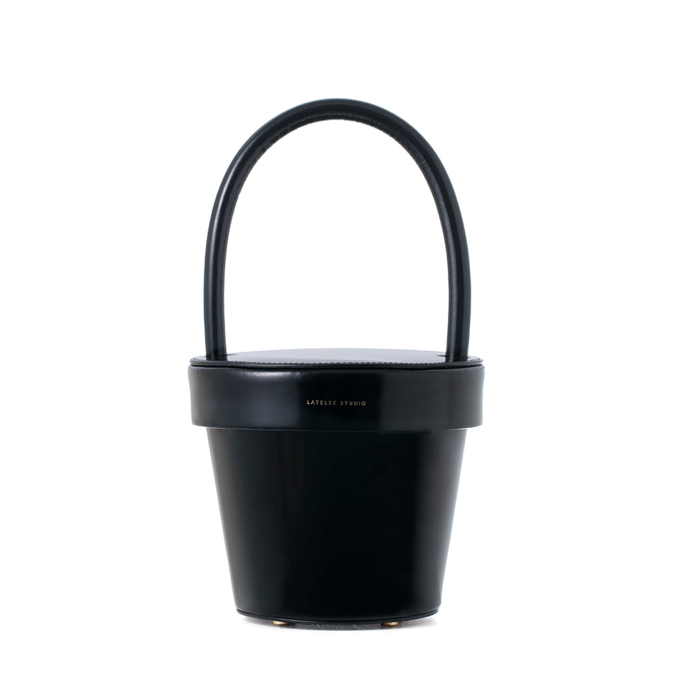 POT BAG, Patent Black